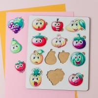 """Сортер-головоломка для детей """"Веселые фрукты и овощи"""" UF"""