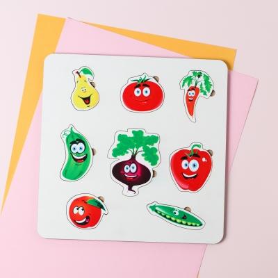 """Сортер-головоломка для детей """"Фрукты и овощи"""" 8 деталей UF"""