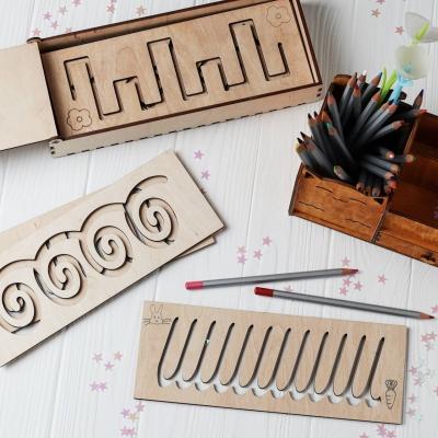Трафареты для первого письма из дерева (набор из 9 планшеток)