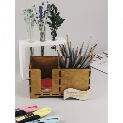 Блок для бумаги и карандашница 2 в 1