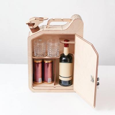 """Подарочная упаковка из фанеры, мини-бар дизайн """"Канистра-бар"""""""