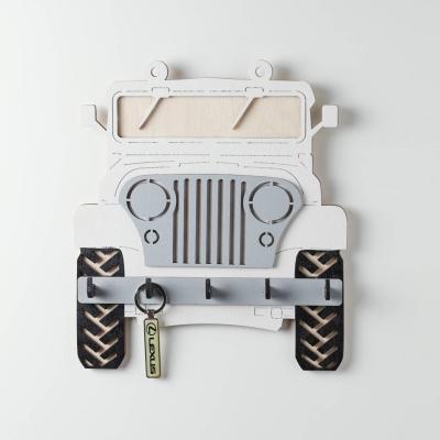 Ключница настенная DomLazera Джип 2118_1 23,5*20,8см цвет белый (В наличии)