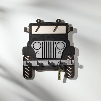 Ключница настенная DomLazera Джип  2118_2 23,5*20,8см цвет черный (В наличии)