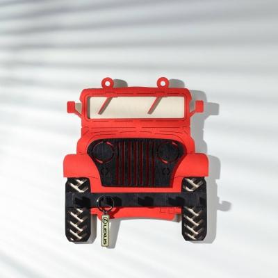 Ключница настенная DomLazera Джип  2118_3 23,5*20,8см цвет красный (В наличии)
