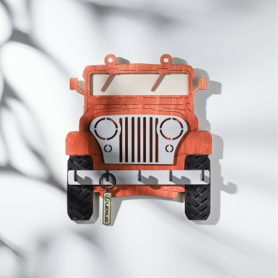 Ключница настенная DomLazera Джип  2118_4 23,5*20,8см Красное дерево (В наличии)