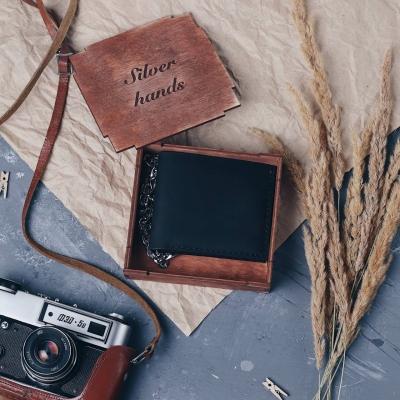 Подарочная коробка из фанеры для кошелька mini
