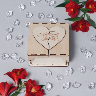 Коробочка для конфет с сердечком