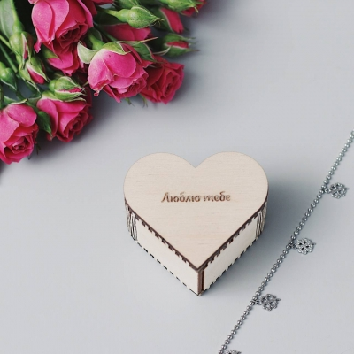 Коробка сердечко для кулона или колечка