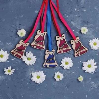 Именная медаль выпускника детского сада/школы дизайн колокольчик