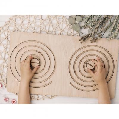 Межполушарные доски для детей DomLazerа в форме круга 1007 40*25см без покраски (В наличии)
