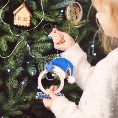 Новогодняя игрушка с фото и именем. Фото-игрушка на елку.