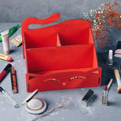 Органайзер для канцтоваров, косметики, ванных принадлежностей цвет красный