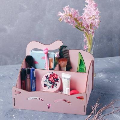Органайзер для канцтоваров, косметики, ванных принадлежностей цвет розовый