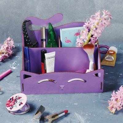 Органайзер для канцтоваров, косметики, ванных принадлежностей цвет фиолетовый