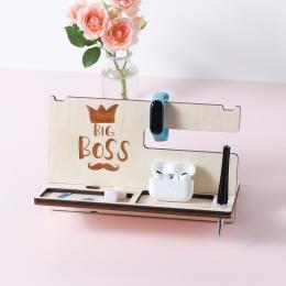 Мужской органайзер из дерева дизайн BOSS, без покраски