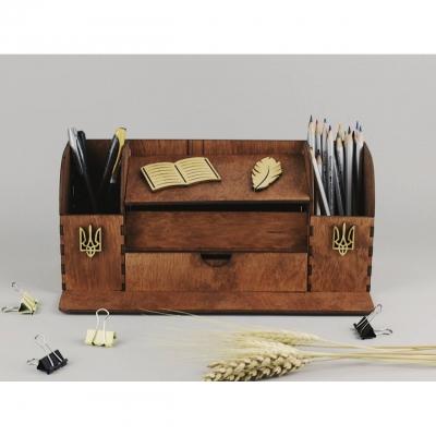 Органайзер на стол из дерева для руководителей