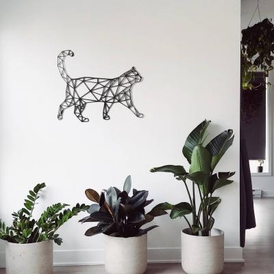"""Декор на стену. Панно на стену дизайн """"Геометрический Кот"""""""