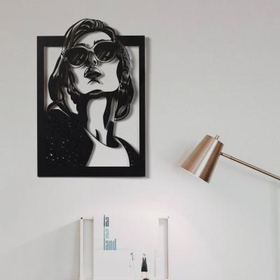 """Декор на стену. Панно на стену дизайн """"Девушка в очках"""""""