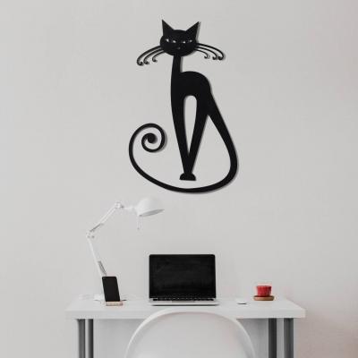 "Декор на стену. Панно на стену дизайн ""Кошка с усиками и хвостом"""