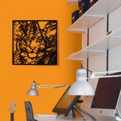 """Декор на стену. Панно на стену дизайн квадрат """"Тигр"""""""