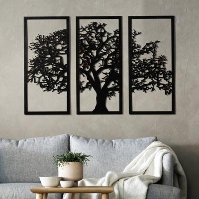 Декор на стену. Набор панно на стену DomLazerа v1 2162 24*33.6см, цвет черный (В наличии)