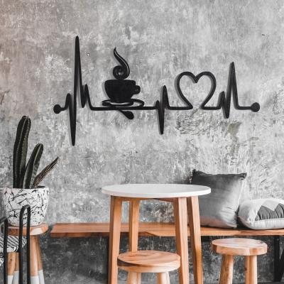 "Декор на стену. Панно на стену дизайн ""Кофе/Сердцебиение"""