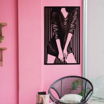 """Декор на стену. Панно на стену дизайн """"Фигура девушки в платье"""""""