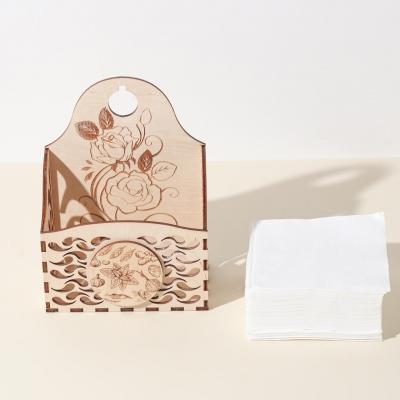Коробка для хранения специй из дерева с цветами роз