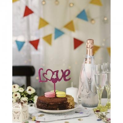 Деревянный топпер в букет или торт LOVE